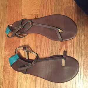 Splendid Shoes - Splendid brown and turquoise sandals