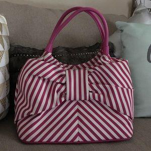 kate spade Handbags - Kate Spade pink striped bow tote