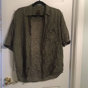 Bruno Bordese Tops - VIntage Men's Silk Shirt