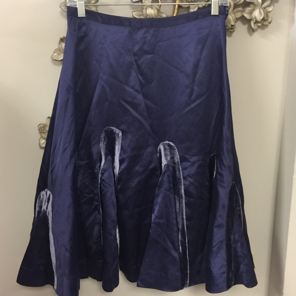 Anthropologie Dresses & Skirts - Odille Silk Velvet Flare Skirt