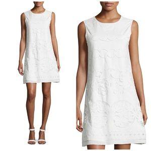 Max Studio White Lace Sleeveless Shift Dress