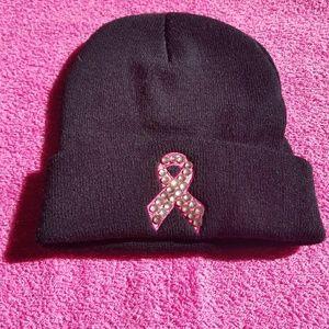 Accessories - NWT - Pink Ribbon Beanie