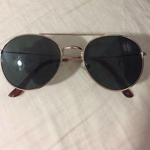 Accessories - Oval Lens/Gold Trim Sunglasses