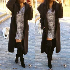 "Jackets & Blazers - Nice and ""wool"" black long jacket"