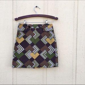 Ann Taylor Geometric Mini Skirt