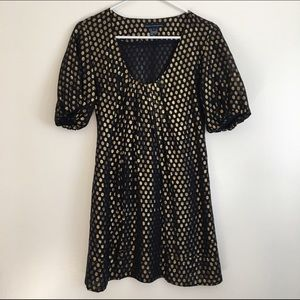 French Connection Dresses & Skirts - French Connection metallic polka dots mini dress