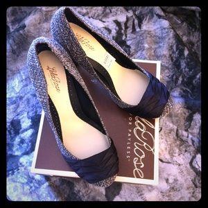 Lela Rose Shoes - NWT Navy, Gray, & White Lela Rose Heels NIB