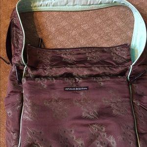 Petunia Pickle Bottom Handbags - Petunia Picklebottom Diaperbag. Peacock brown