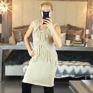 Dresses & Skirts - SASSY KNITTED DRESS WITH FRINGED DETAILS!