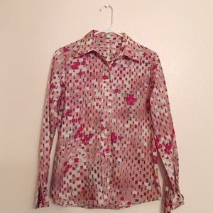 Final Sale! Vintage Print Blouse