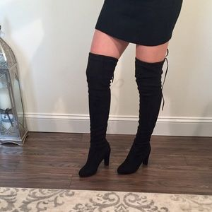 Shoes - SALE [ Last Pair ] - Black - Thigh High Boots