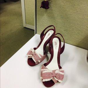 Lela Rose Shoes - Lela Rose red heels.