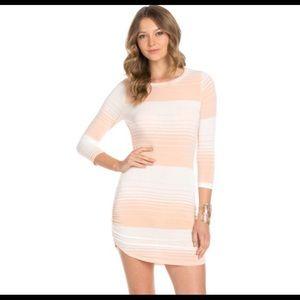 Xmas Special  Peach/ Ivory Tunic Top Dress