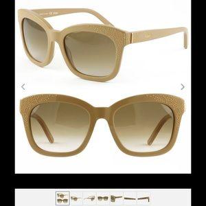 Authentic Chloe Suzanna Cat Eye Sunglasses 