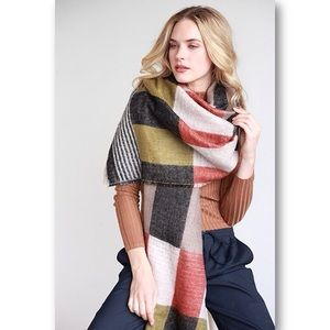 Simonetta Accessories - Oversized Plaid Scarf