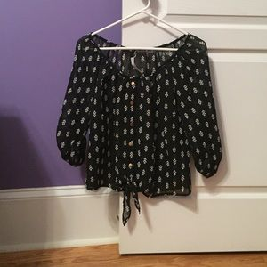 Charlotte Russe Tops - NWT Charlotte Russe Black Arrow Semi Sheer Blouse