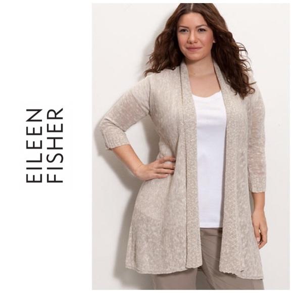 d655ce45ecf Eileen Fisher Sweaters - Eileen Fisher Woman plus size cardigan - oatmeal
