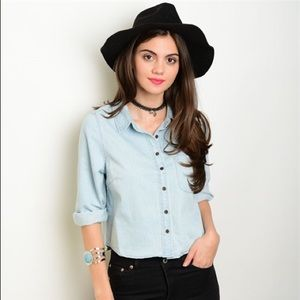 Tops - Chambray Blouse