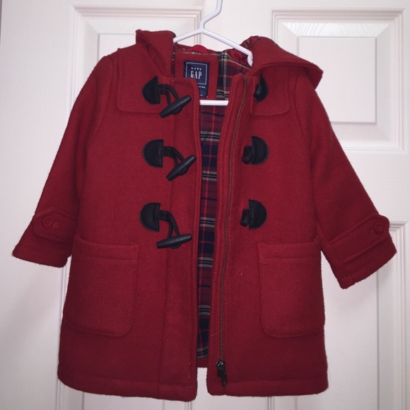 57% off GAP Other - Red Gap Duffle coat for toddler from Diana's ...