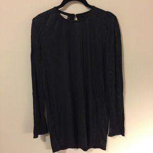 henri bendel Tops - Henri Bendel Black Micro Studded Tunic Blouse