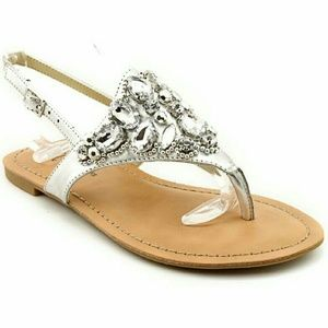 INC International Concepts Shoes - INC International Concepts Slingback Silver Sandal