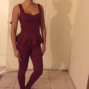 Other - Burgundy jumpsuit