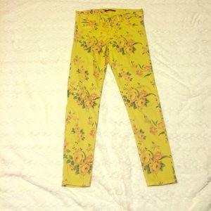 Flying Monkey Denim - Flying Monkey Skinny Flower Pattern Jeans