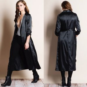 "Bare Anthology Jackets & Coats - NBF ❤️️ ""Nocturne"" Long Satin Duster Jacket"