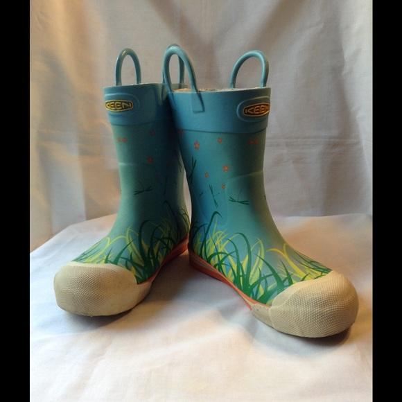 Keen - Kids Keen Dragonfly Garden Rain Boots Sz 1 from Joy's ...