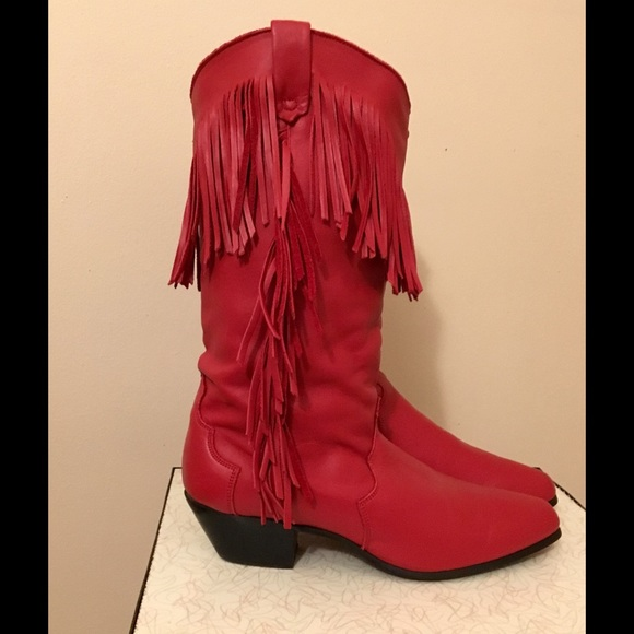 b64015a1487 Vintage Red Leather Dingo Western Boots