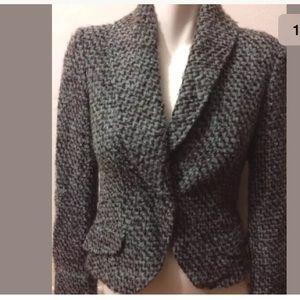 Jackets & Blazers - Philippe Adec Tweed MOHAIR Shawl Collar Jacket