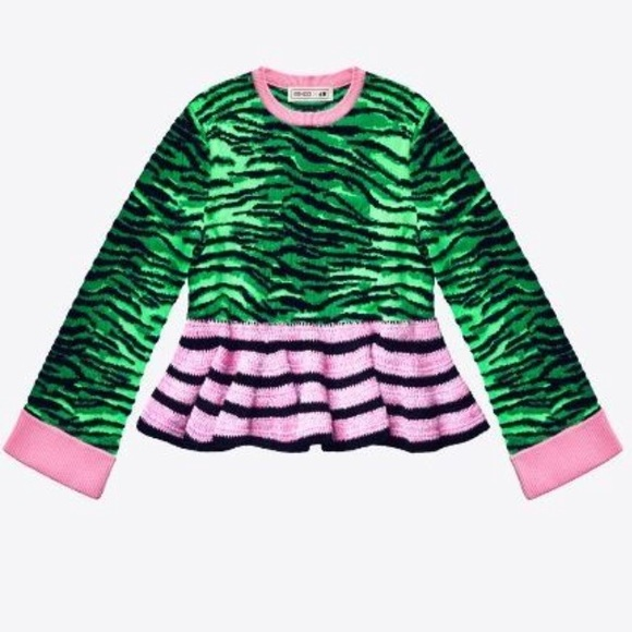 19012224 Kenzo Sweaters | Hm Tiger Stripe Sweater | Poshmark