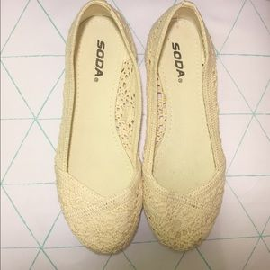 Soda Shoes - Soda Slip On Ballet Lace Formal Flat