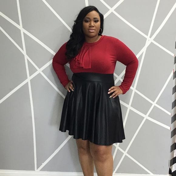 Dresses Red Black Plus Size Skater Dress Poshmark