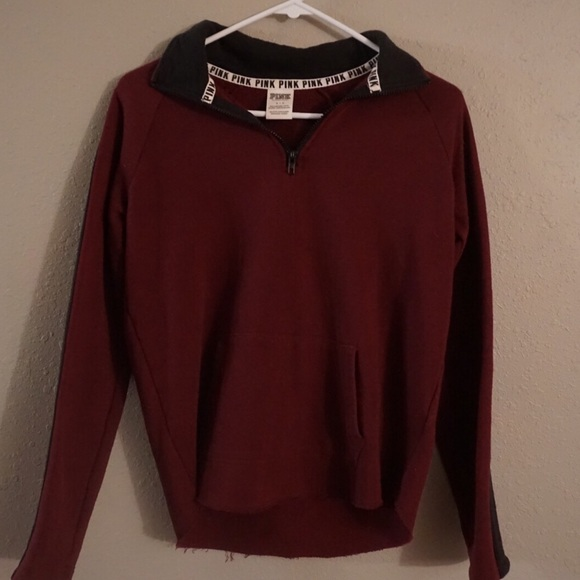 46% off PINK Victoria's Secret Sweaters - Burgundy Pink Sweatshirt ...