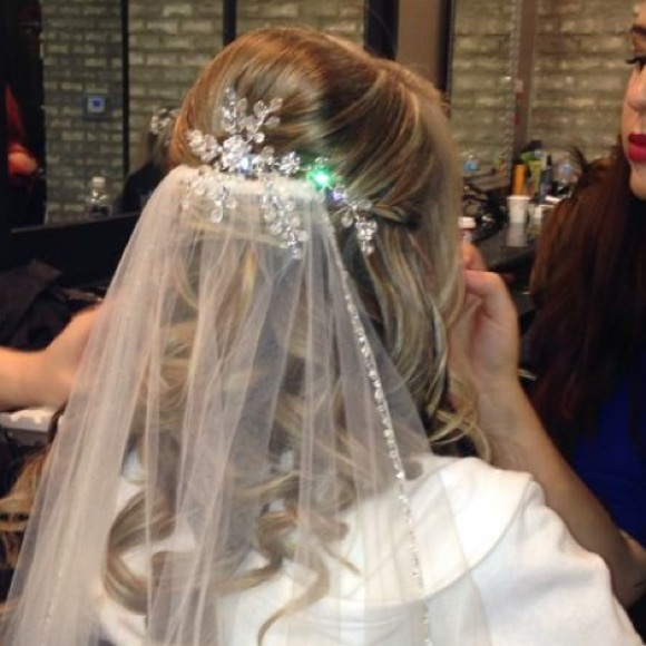 Accessories Jeweled Winter Wedding Snowflake Bridal Hairpiece