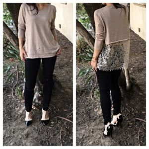 Sweaters - Paris lace back sweater ONE HOUR SALE