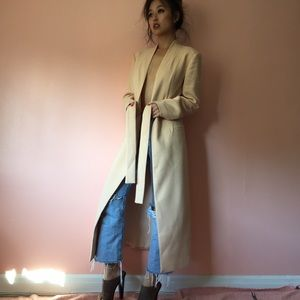 Keepsake Jackets & Blazers - Keepsake Cream Full Length Coat