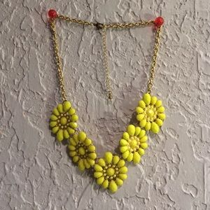 Neon Yellow Statement Necklace