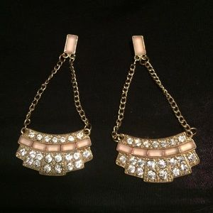 Pale pink Chandelier earrings