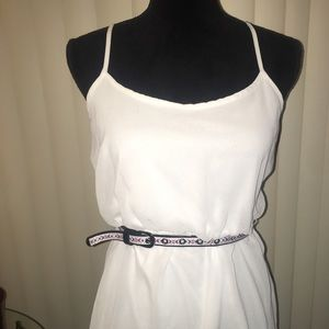 Charlotte Russe Dresses & Skirts - White Boho Mini Dress W/ Belt NWOT