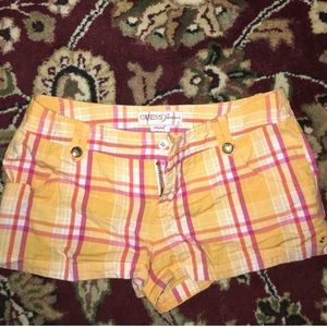 Guess Pants - GUESS Stretch Plaid Shorts