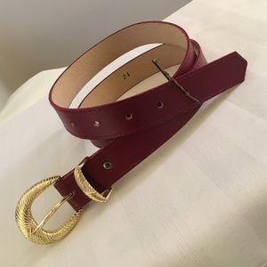 """Accessories - Burgundy Belt 29-33"""""""