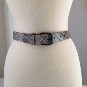 "Accessories - Plaid vinyl belt 25-29"""