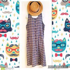 Vintage Dresses & Skirts - Vintage Plaid Dress