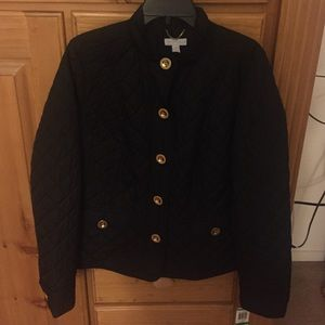 Charter Club Black Jacket Gold Buttons