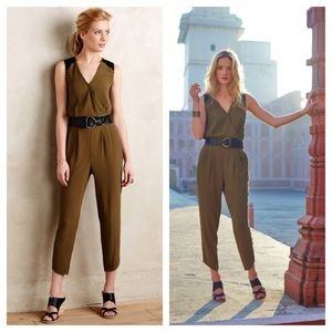 Anthropologie Dresses & Skirts - Anthropologie/ sani Lace olive green Jumpsuit