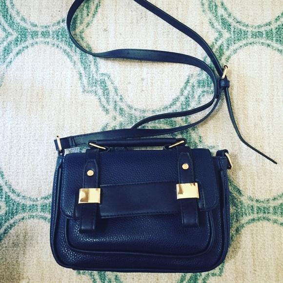 78% off ASOS Handbags - Navy Blue Satchel Bag from Sarah's closet ...