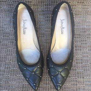 Neiman Marcus Shoes - Neiman Marcus Black Leather Pumps with Studs