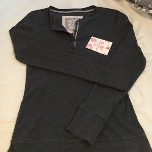 Henley style long sleeve T